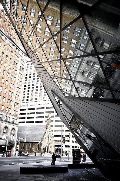 File:View of Bloor Street reflected in Royal Ontario Museum.jpg
