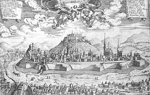 View of Brno in the year 1700