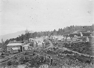 Cornish diaspora - View of Cornish Town, also known as Cousin Jack Town, Inangahua County, New Zealand