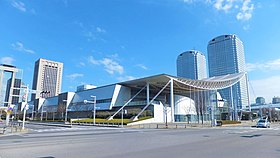 View of Makuhari-Messe from Nakase 2-chome crossing.jpg