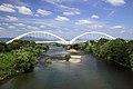 View of Toyota-ohashi Bridge from Kyucho-bashi Bridge, Toyota 2012.jpg