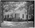 View of front and west sides - Ernest E. Hart House, 4828 West Fayetteville Road, College Park, Fulton County, GA HABS GA,61-COPK,6-6.tif