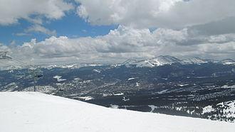 Bald Mountain (Colorado) - A view of Bald Mountain from the top of the Kensho SuperChair at Breckenridge Ski Resort