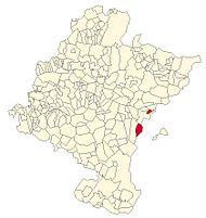 Localização do município de Xavier em Navarra
