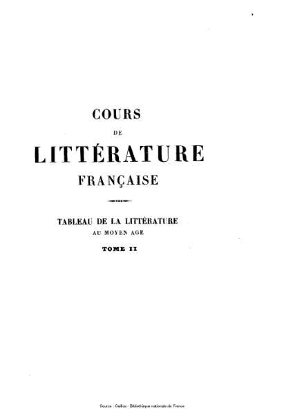 File:Villemain - Cours de littérature française, tome 2.djvu