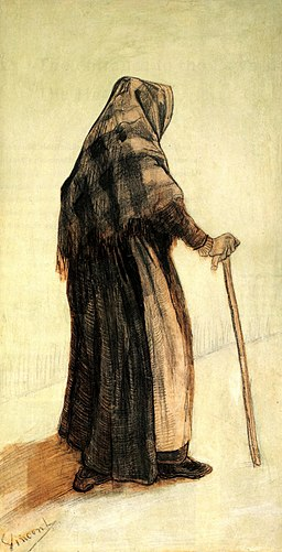 Vincent van Gogh - Old Woman Seen from Behind F913