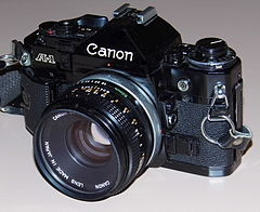 Vintage Canon 35mm SLR Film Camera, Model A-1, All-Digital Control, Made In Japan, Circa 1978 (13510111655).jpg