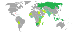 Visa requirements for Cuban citizens.png