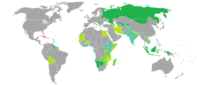 Visa requirements for Cuban citizens - Wikipedia