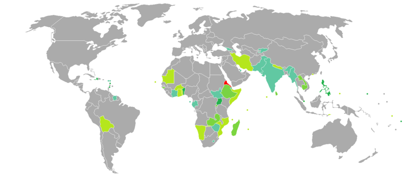 Visa requirements for eritrean citizens wikipedia visa requirements mapedit eritrea gumiabroncs Images