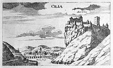 Cilli, Georg Matthäus Vischer, Topographia Ducatus Stiriae, Graz 1681