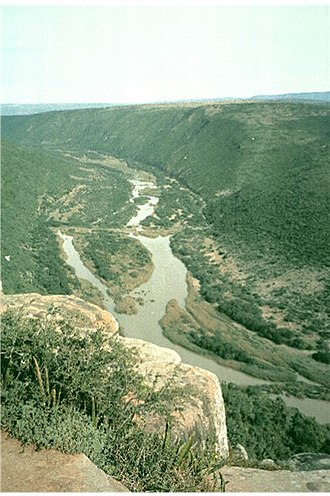 Great Fish River - The Great Fish River in the Eastern Cape from Dubbeldrift Nature Reserve.