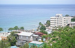 Aguadilla buildings and ocean view