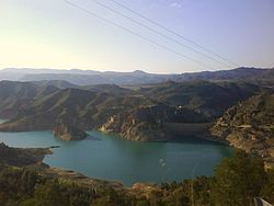 Fuensanta reservoir in 2008
