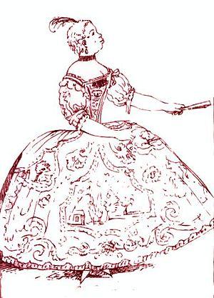 Vittoria Tesi - Caricature of Tesi