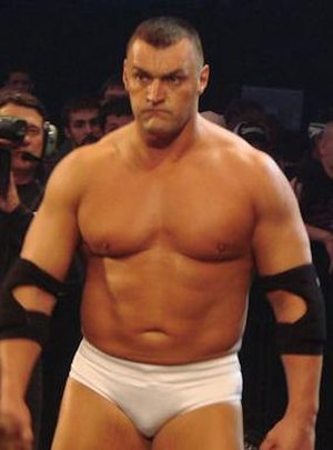 Vladimir Kozlov - Kozlov on SmackDown in 2008.