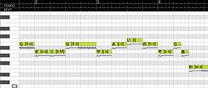 Vocaloid - Score Editor (example)