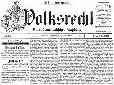 volksrecht zeitung � wikipedia