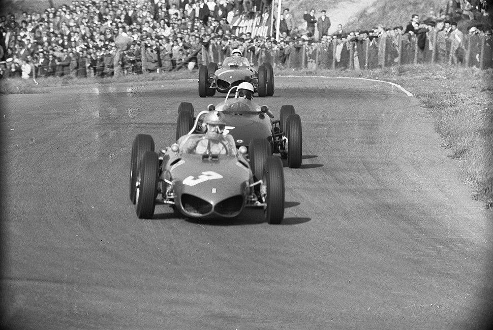Von Trips, Clark and P. Hill at 1961 Dutch Grand Prix