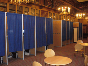 Voting booth - Voting booths used for L'Ordre des Avocats de Paris (Paris Bar Association) 2007 election.