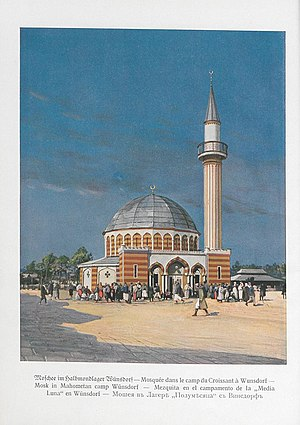 Islam in Germany - The Wünsdorf Mosque, at the Halbmondlager POW camp, was Germany's first mosque, built in 1915; it was demolished in 1925–26.