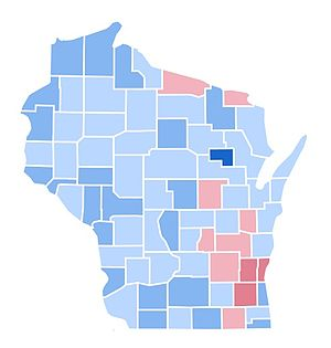 United States presidential election in Wisconsin, 1996 - Image: WI1996