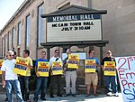 WI Union activists protest outside McCain Town Hall in Racine, July 31, 2008 (2722173865).jpg
