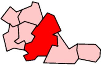 Government of Birmingham - Location of Birmingham within West Midlands