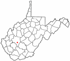 Location of Cedar Grove, West Virginia