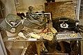 WW2 German uniform items SS field cap Totenkopf Wehrmacht general Service cap Collar patches dagger Shoulder straps Hohner marschieren harmonica Luger Assmann eagles smoking pipe Lofoten Krigsminnemuseum Norway 2019-05-08 0209.jpg