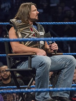 A.J. Styles als WWE Champion in december 2016