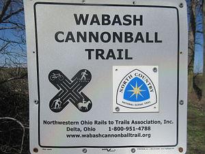 Wabash Cannonball Trail - Image: Wabash cannonball trail waymark in fulton county ohio