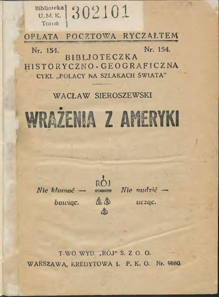 File:Wacław Sieroszewski - Wrażenia z Ameryki.djvu