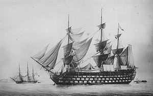 French ship Wagram (1810) - Image: Wagram Francois Roux