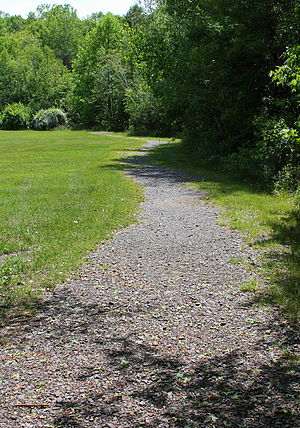 Wright Township, Luzerne County, Pennsylvania - Walking path in the Wright Township Municipal Park