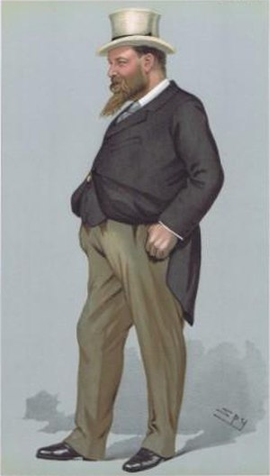 Walter Rothschild, 2nd Baron Rothschild - Rothschild caricatured by Spy for Vanity Fair, 1900