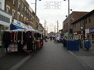 Walthamstow Market - The market runs along the pedestrianised high street