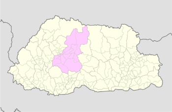 Location of Gasetsho Wom Gewog