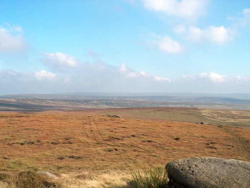 Warcock Hill from Boulsworth Hill - geograph.org.uk - 1733188