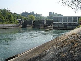 Aarberg - Hydroelectric dam in Aarberg