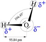 Geometrie vum Waassermoleküll