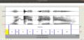 Waveform spectrogram and transcription of wikipedia in praat.png