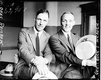 Black Sox Scandal - Infielders Swede Risberg (left) and Buck Weaver during their 1921 trial.