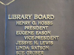 Eugene Eason - Eason is listed on the plaque at the Webster Parish Library in Minden because of his service on the board at the time of the completion of the new library in 1996.