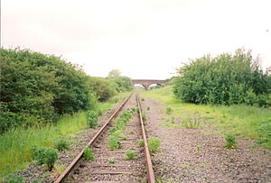 Varsity Line - Swanbourne, showing the dilapidated condition of the track (February 2006)