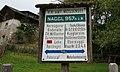 Wegweiser Naggl, 957 m ü.M. Weißensee, Kärnten.jpg
