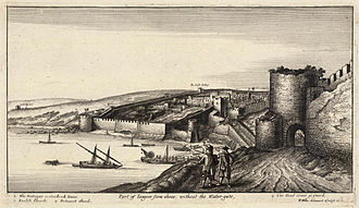 Hospital ship - Tangier circa 1670. Hospital ships were used during the evacuation of the port in the 1680s.