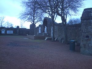 Carfin Grotto - West wall of Grotto
