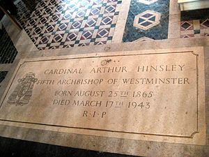 Arthur Hinsley - Tomb of Cardinal Arthur Hinsley in Westminster Cathedral