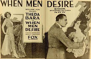 When Men Desire - Ad for film